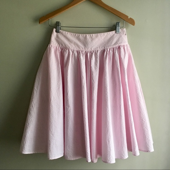 f9bdd39b9b Ralph Lauren Pink Striped Seersucker Circle Skirt.  M_5a764e46739d483bcde6c704